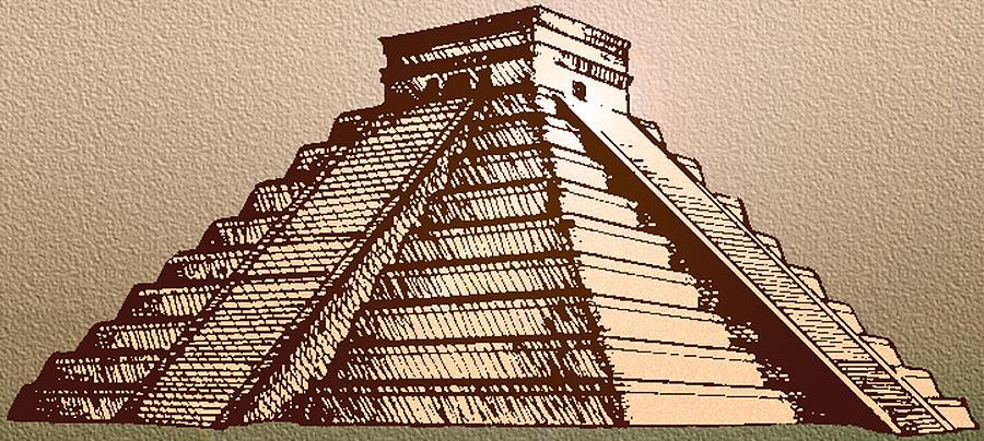 The Temple Of Kukulcan Chichen Itza Digital Art