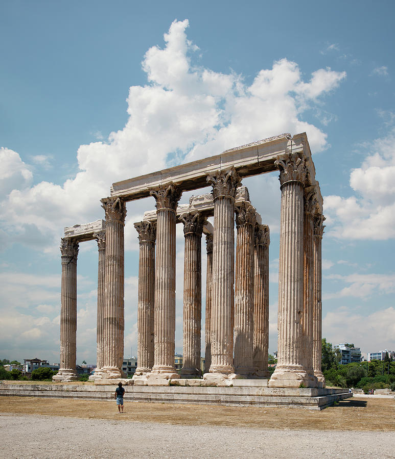 The Temple Of Olympian Zeus, Athens Photograph by Ed Freeman