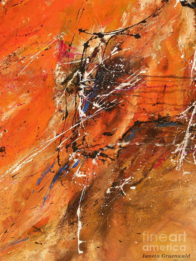 Fun Painting - The Temptation -abstract Art by Ismeta Gruenwald
