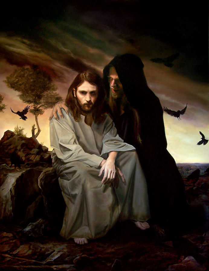 Temptation Of Christ Painting - The Temptation Of Christ by Eric  Armusik