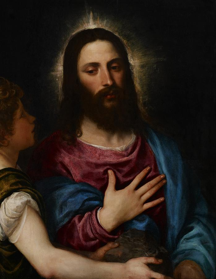 Resolve Painting - The Temptation Of Christ by Titian