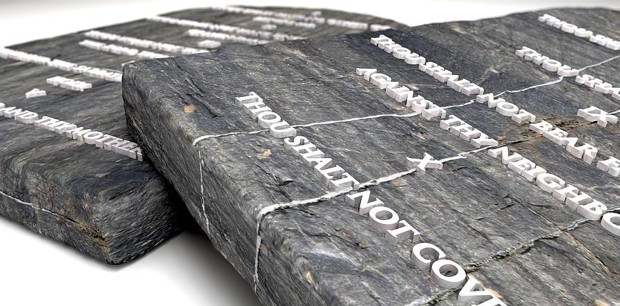 Ten Commandments Digital Art - The Ten Commandments by Allan Swart