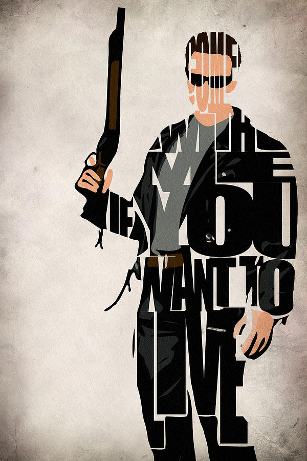 The Terminator Arnold Schwarzenegger Drawing By Ayse Deniz