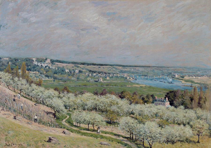 The Terrace At Saint-germain Painting - The Terrace At Saint Germain by Alfred Sisley
