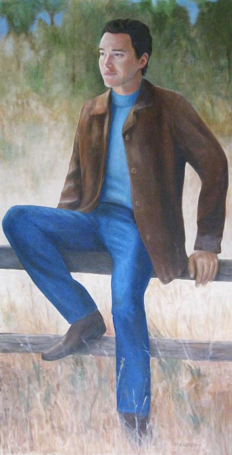 Man Painting - The Texan by Parrish Hirasaki