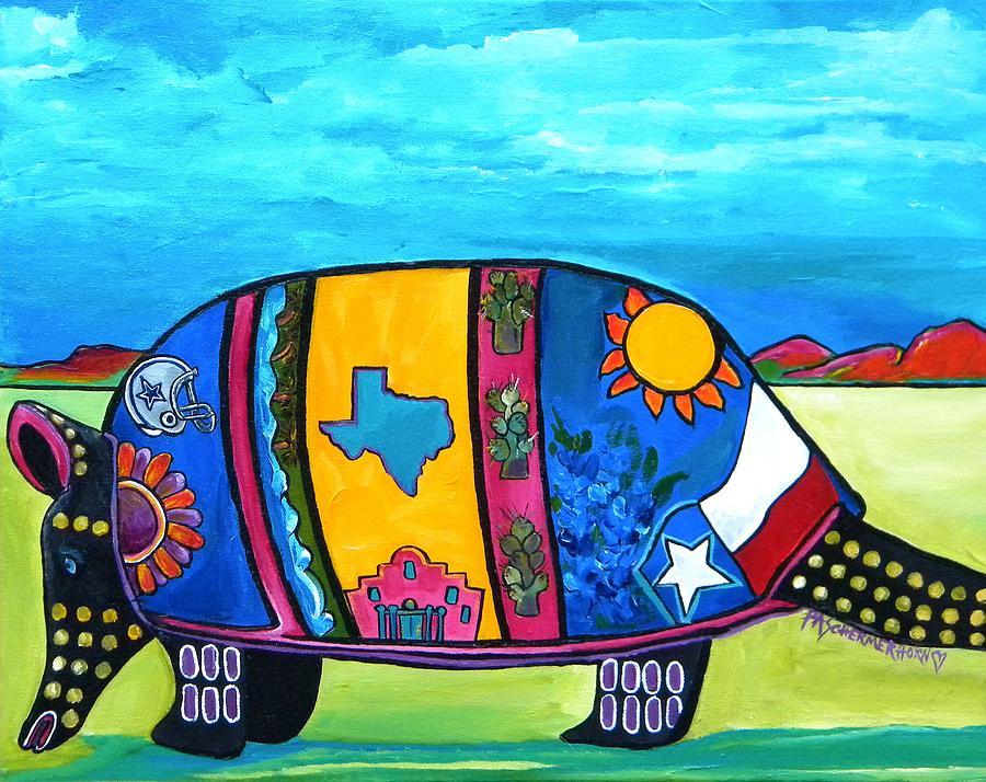 The Texas Armadillo Painting By Patti Schermerhorn