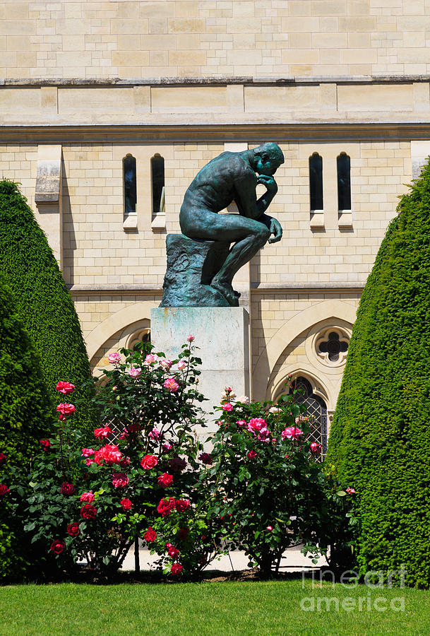 The Thinker Photograph - The Thinker By Auguste Rodin by Louise Heusinkveld