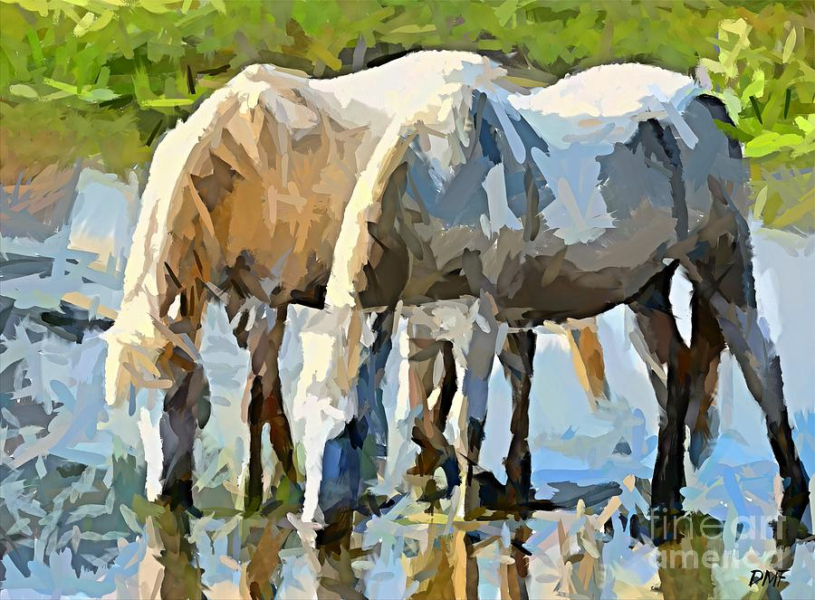 Rhone River Painting - The Thirst by Dragica  Micki Fortuna