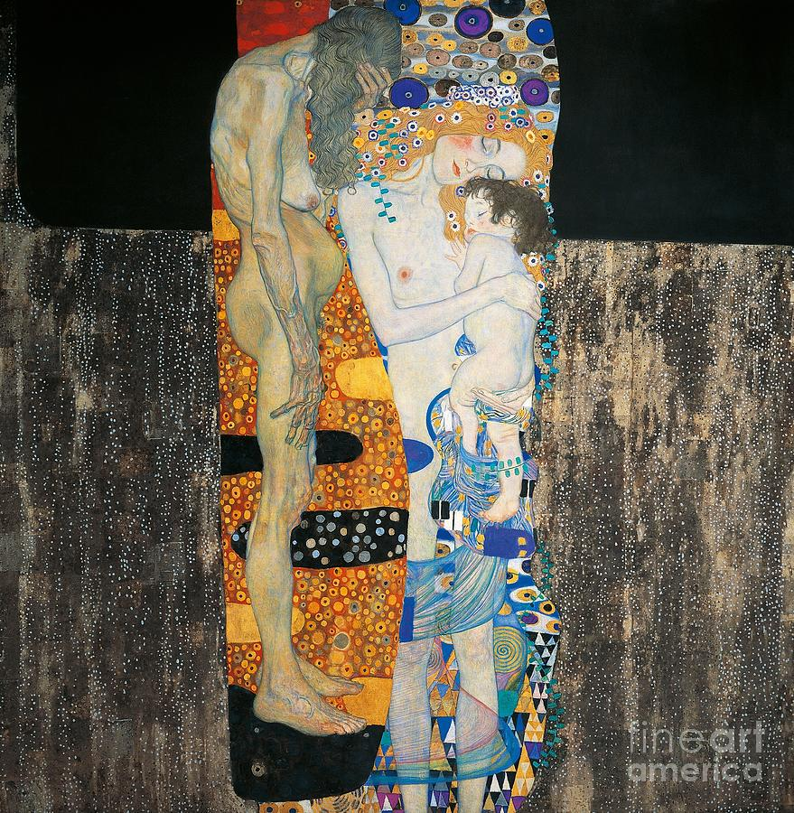 Allegory Painting - The Three Ages Of Woman by Gustav Klimt