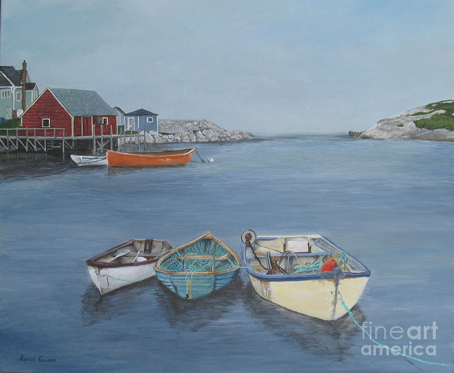 Nova Scotia Painting - The Three Amigos by Janice Guinan