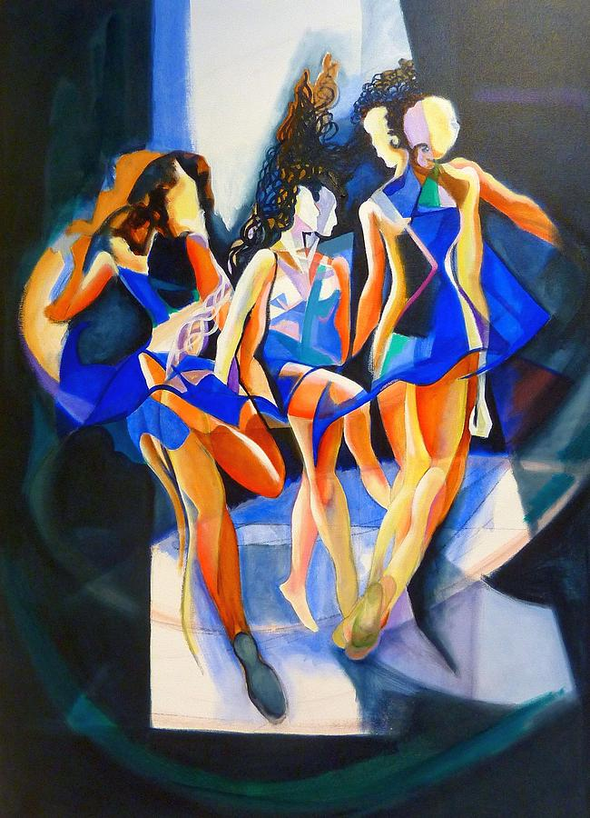 The Three Graces Painting by Georg Douglas
