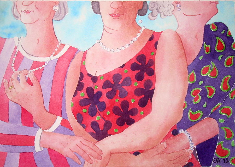 Graces Painting - The Three Gracies by Julie  Hutchinson