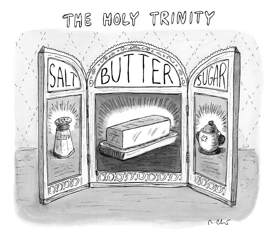 The Holy Trinity Drawing by Roz Chast
