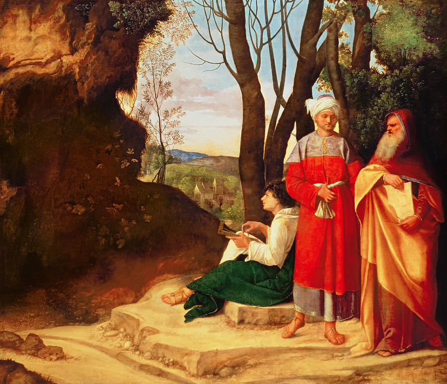 The Photograph - The Three Philosophers Oil On Canvas by Giorgione