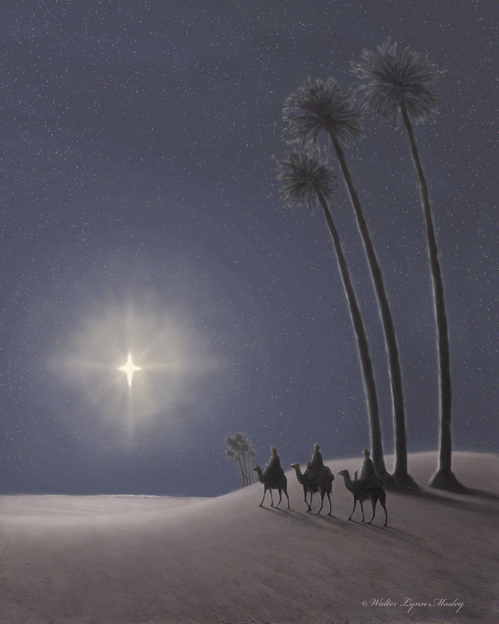 Wise Men Painting - The Three Wise Men by Walter Lynn Mosley