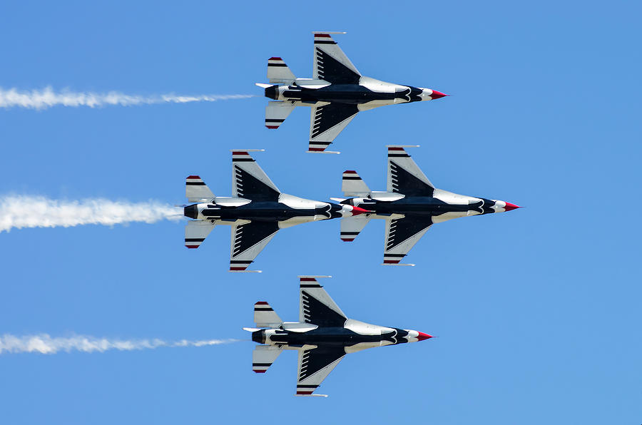 The Thunderbirds. Us Air Force Photograph by Luis Castaneda Inc.