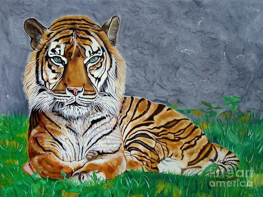 Tiger Painting - The Tiger by Barbara Pelizzoli