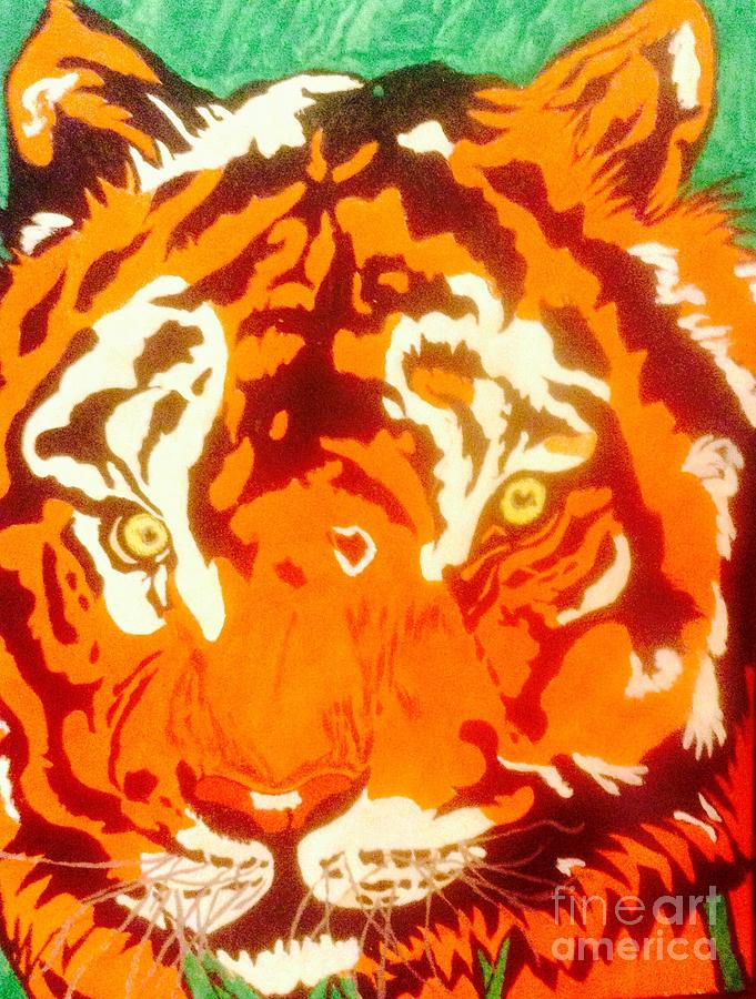 Hooded Sweatshirts Mixed Media - The Tiger by Franky A HICKS