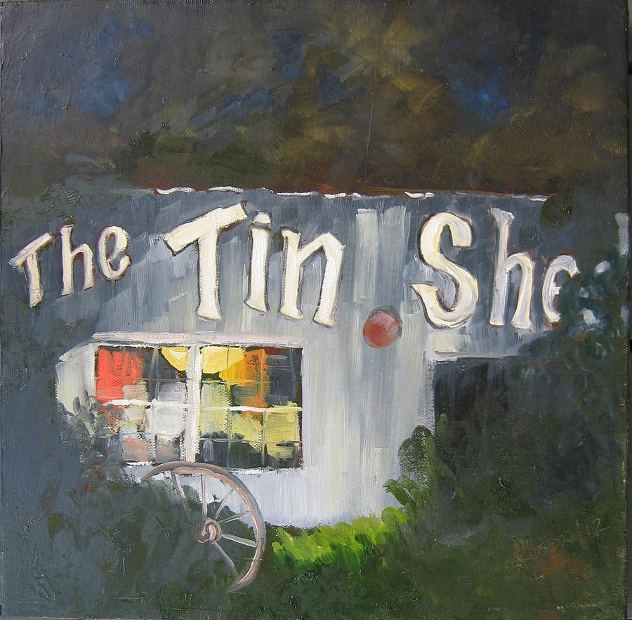Apalachicola Painting - The Tin Shed by Susan Richardson