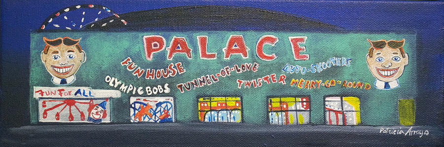 Tillie Of Asbury Park Painting - The Tiny Tiny Palace by Patricia Arroyo