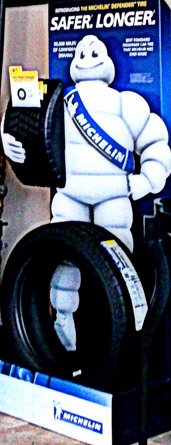 Michelin Photograph - The Tire Man by Pamela Hyde Wilson
