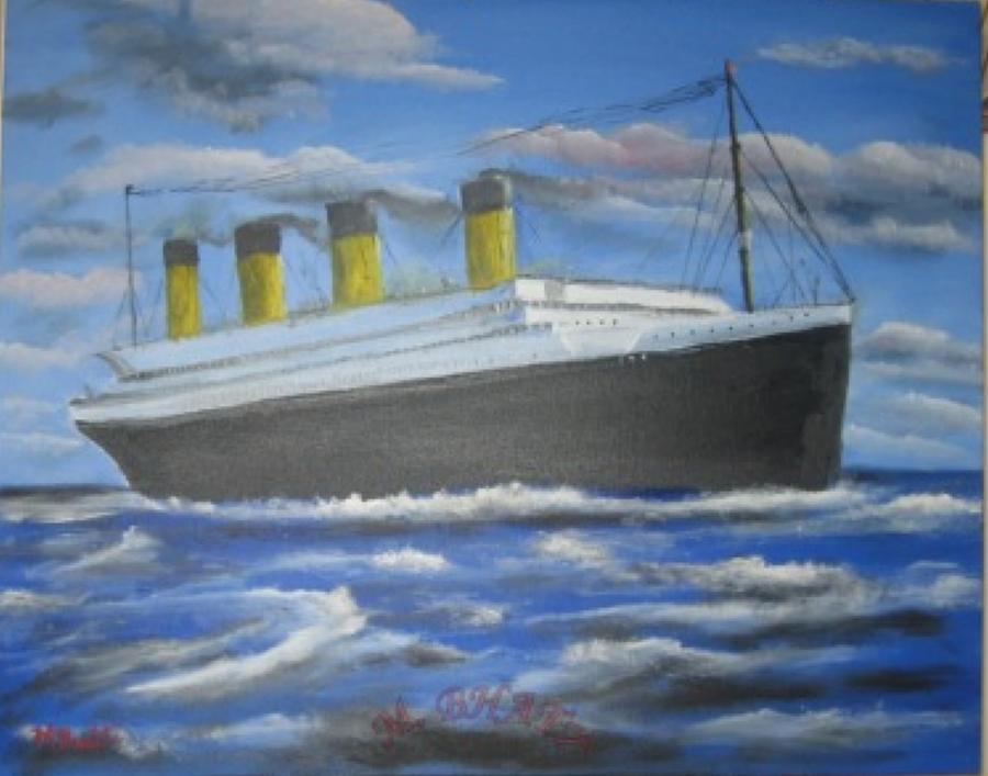 Steamer Painting - The Titanic by M Bhatt