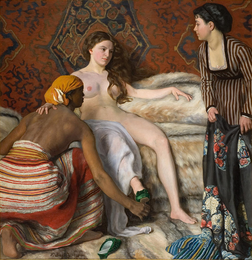 Frederic Bazille Painting - The Toilet by Frederic Bazille
