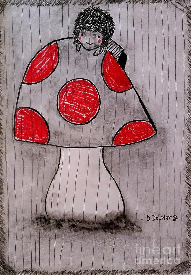 Creepy Drawing - The Tomboy Princess by Denisse Del Mar Guevara