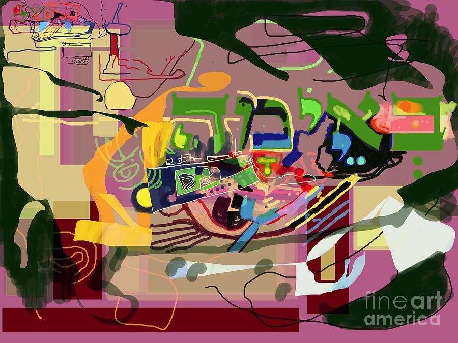 Torah Digital Art - the Torah is aquired with awe 3 by David Baruch Wolk