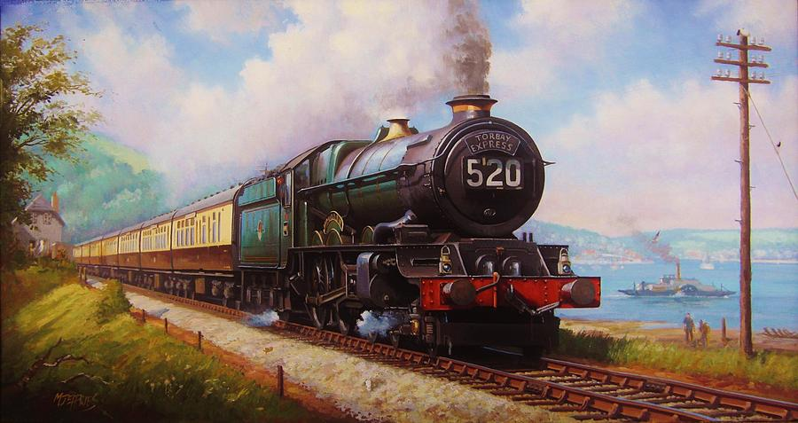 Steampunk Painting - The Torbay Express. by Mike  Jeffries