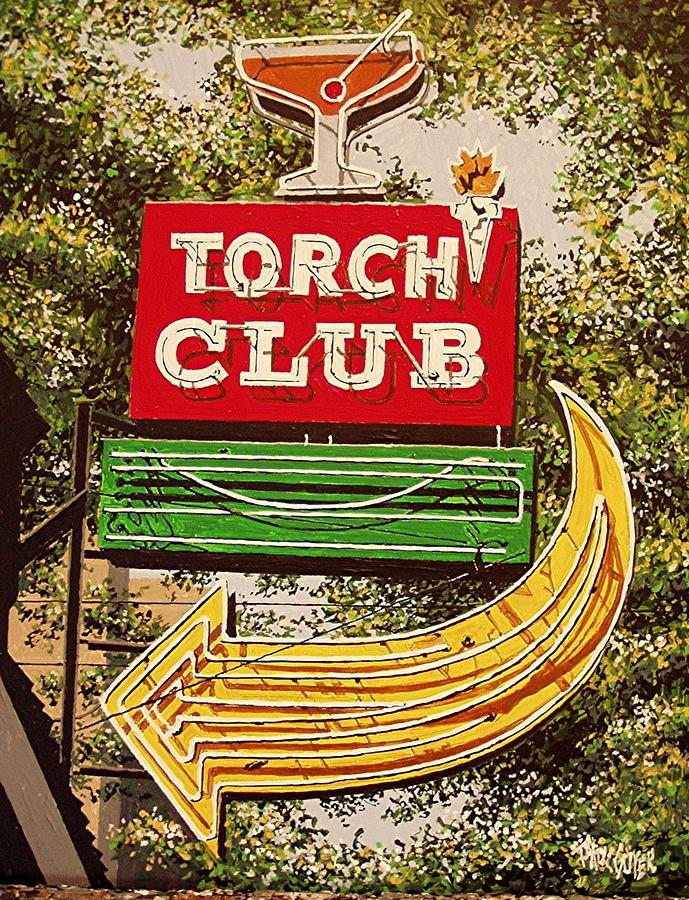 Sacramento Painting - The Torch Club by Paul Guyer