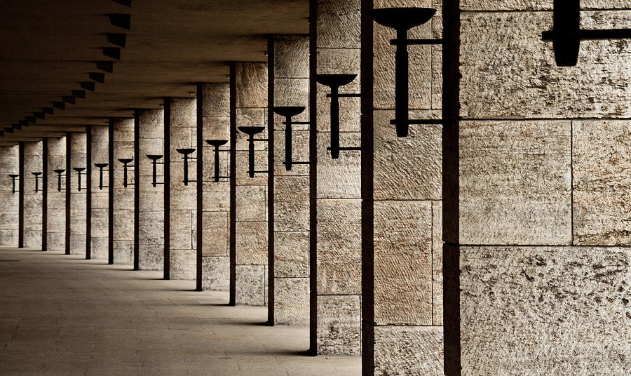 Olympiastadion Photograph - The Torches by Karl-axel Lindbergh