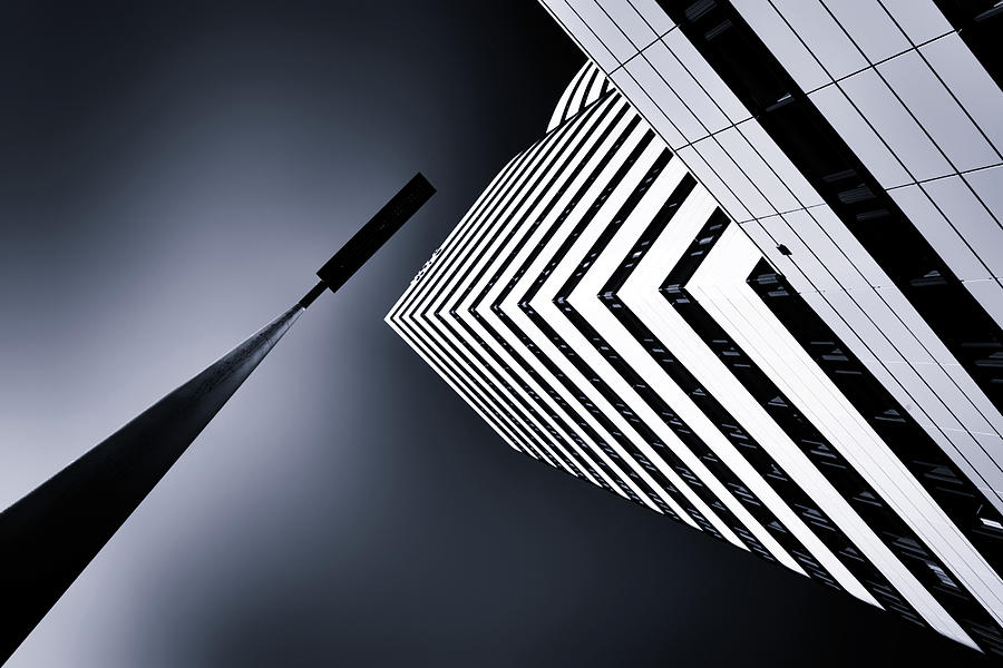Architecture Photograph - The Tower And The Lamp by Jeroen Van De