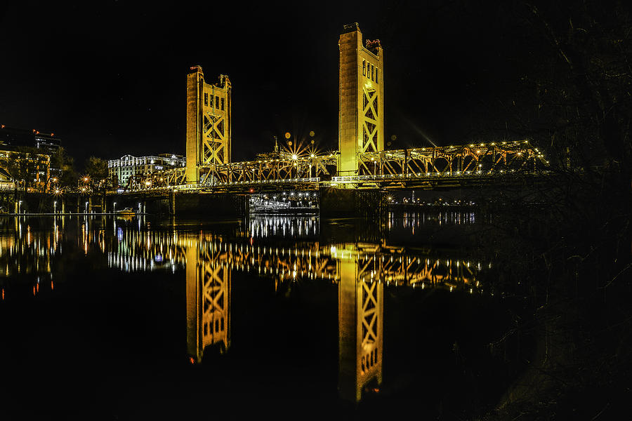 Sacramento Photograph - The Tower Bridge... by Israel Marino