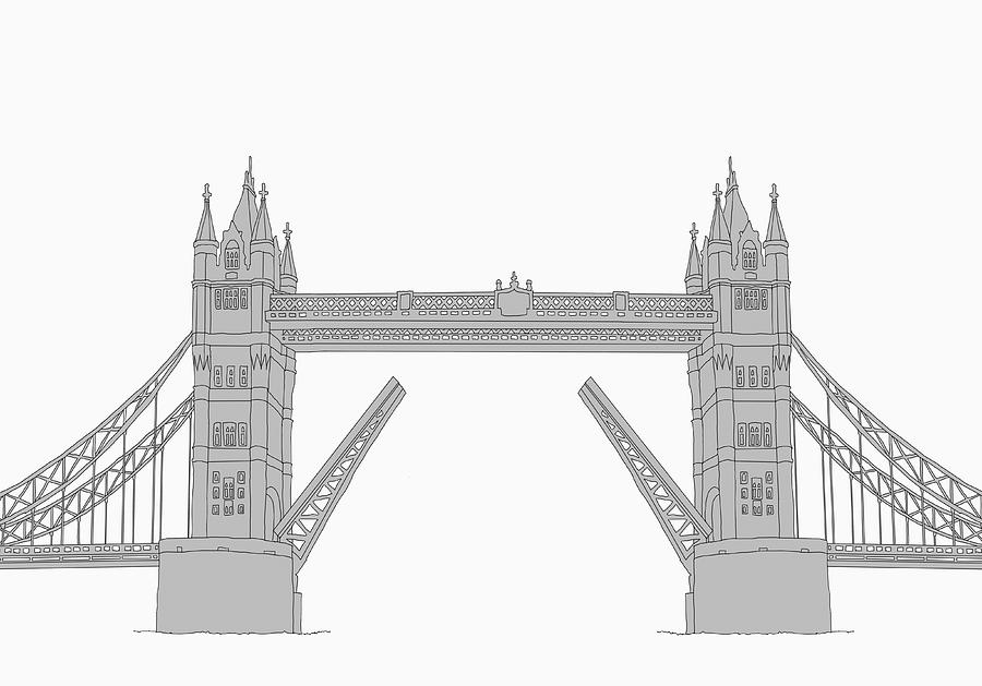 The Tower Bridge Digital Art by Malte Mueller