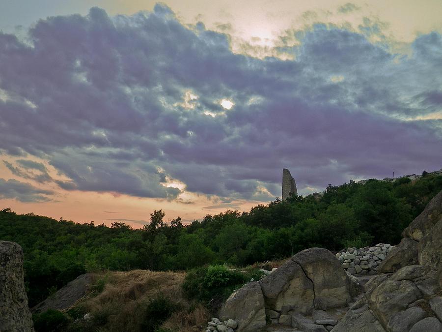Perperikon Photograph - The Tower by Eti Reid