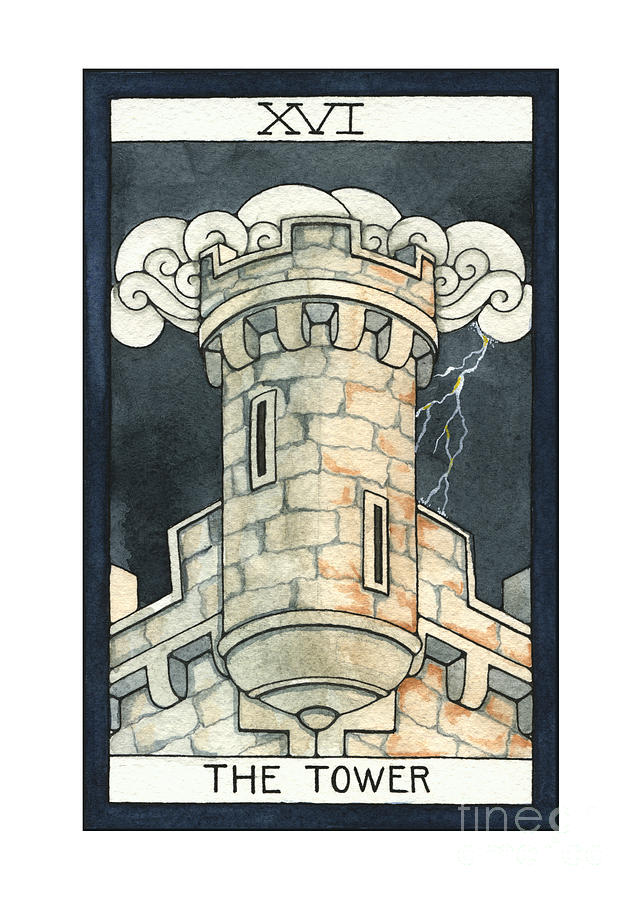 Tower Painting - The Tower by Nora Blansett