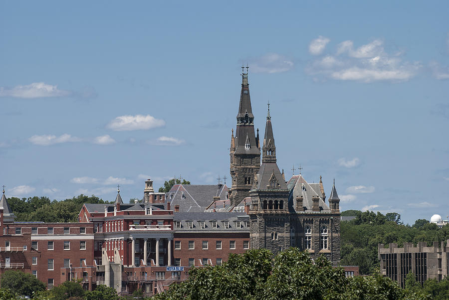 College Photograph - The Towers of Healy Hall Georgetown University by Lauren Brice