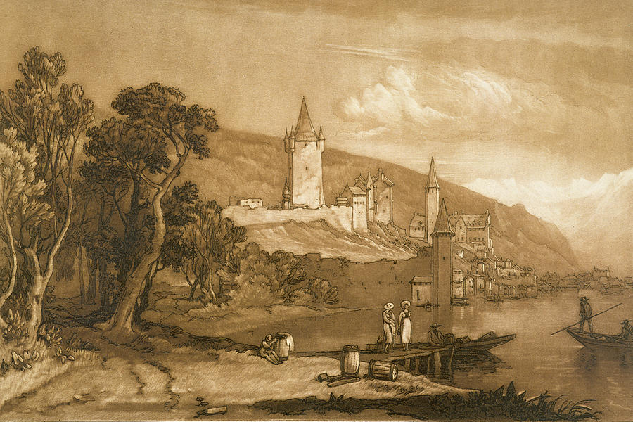 Turner Painting - The Town Of Thun by Joseph Mallord William Turner