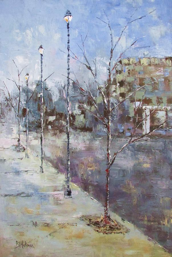 City Painting - The Town Square by Brandi  Hickman
