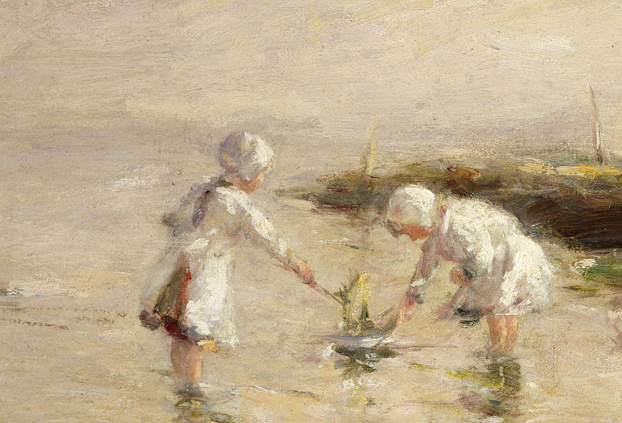 Seaside Painting - The Toy Boat by Robert Gemmel Hutchison