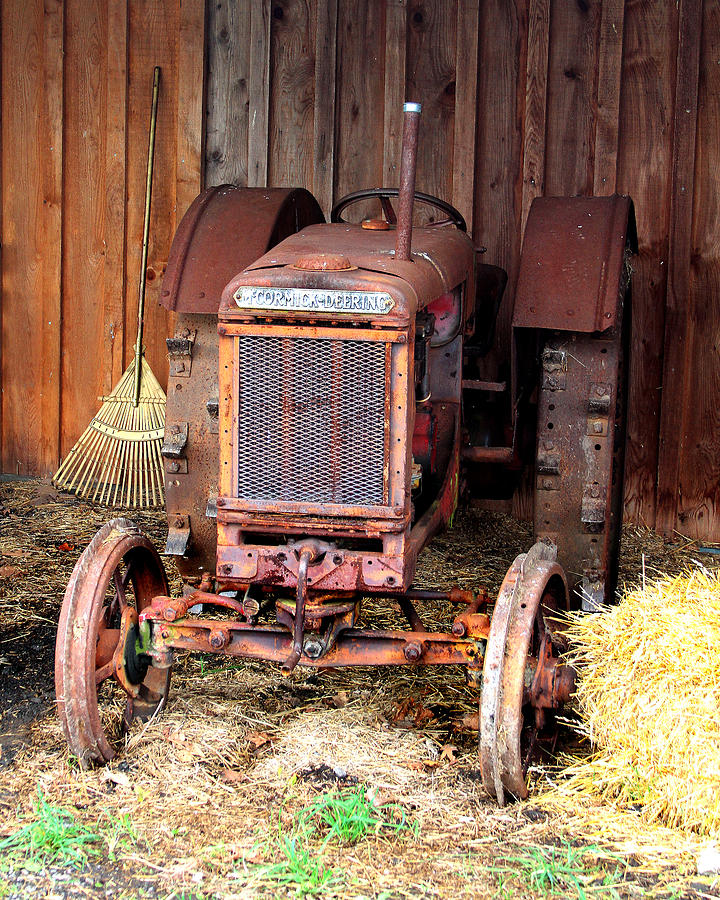 Mccormick Photograph - The Tractor by John Freidenberg
