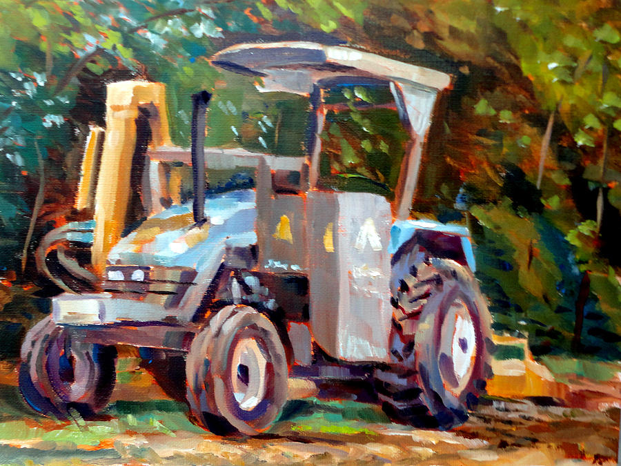 Landscape Painting - The Tractor by Mark Hartung