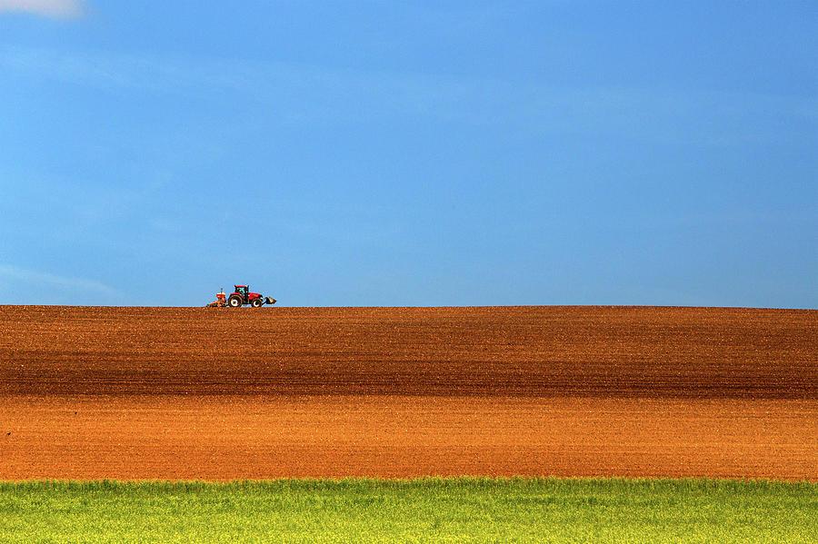 Tractor Photograph - The Tractor by Massimo Della Latta