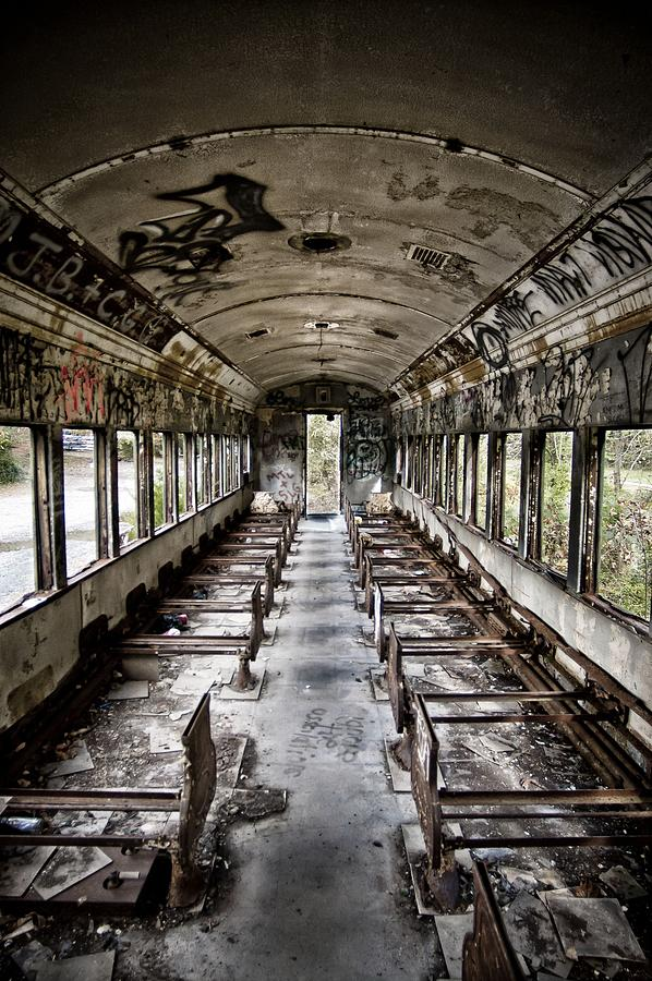 Abandon Photograph - The Train Car by Jessica Berlin