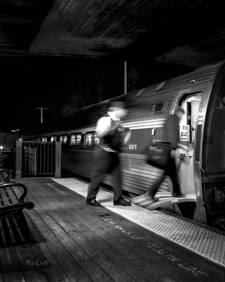 Trains Photograph - The Train Conductor by Bob Orsillo