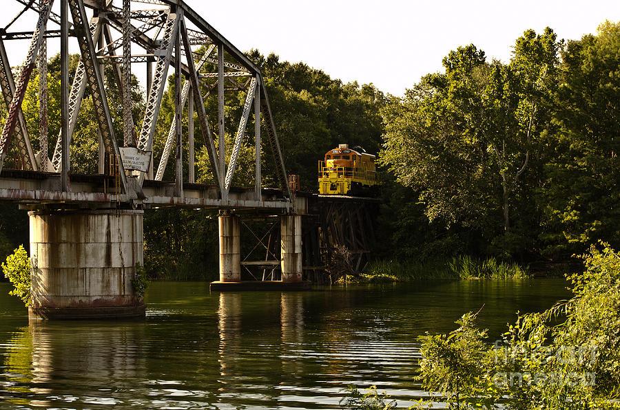 Bridges Photograph - The Train by Debra Johnson