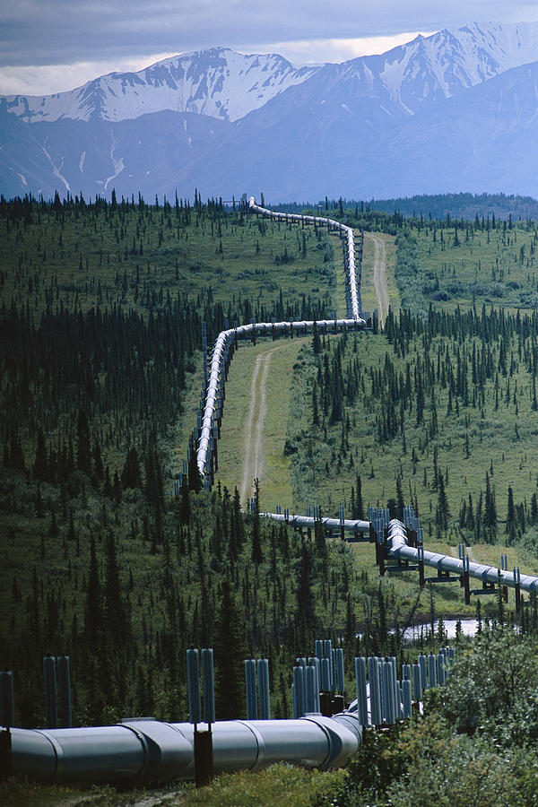Equipment Photograph - The Trans-alaska Pipeline Cuts by Melissa Farlow