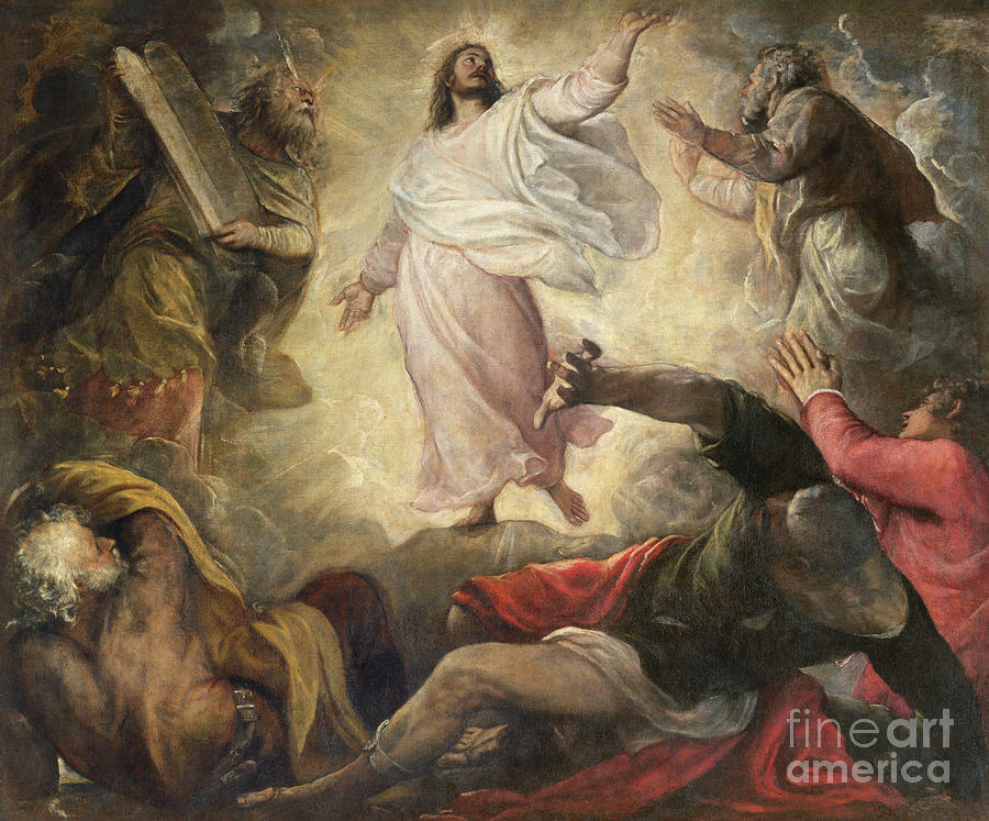 The Transfiguration Of Christ Painting by Titian