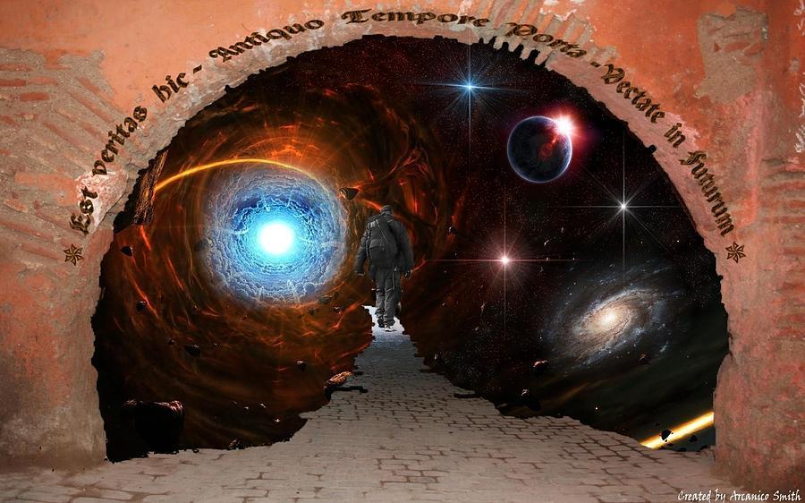 Space Digital Art - The Traveller Interdimensional by Arcanico Luca Smith Acquaviva